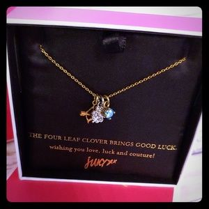Juicy Couture good luck charm necklace gold NIB